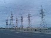 110-330 kV transitional steel supports